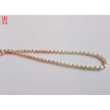 5-6-7mm gemischte Farbe Reis Natürliche Perlenkette (ES130-3)