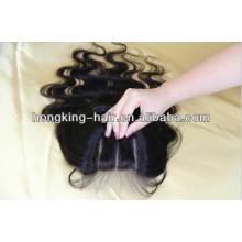 venta al por mayor 5a 100% cabello humano tres partes de cierre de cordón