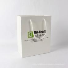 Bolsa de papel famosa famosa de lujo del regalo de la marca para el empaquetado