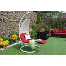 Elegante polietileno Rattan Egg Swing Chair para Outdoor Garden Patio Wicker Furniture