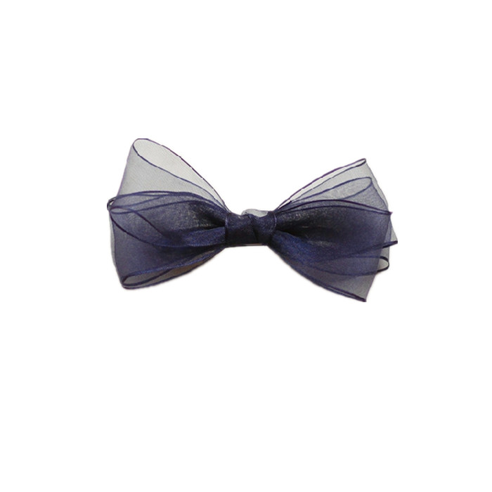 Organza ribbon Bow deep blue