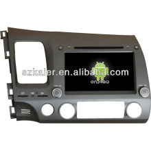 Android System car dvd player for 2006-2011 Honda Civic with GPS,Bluetooth,3G,ipod,Games,Dual Zone,Steering Wheel Control