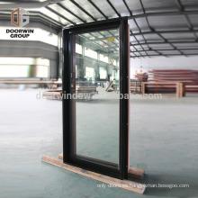 Barato acabado con recubrimiento en polvo acabado con ruptura térmica de aluminio ventanas fijas estándar americano doble acristalamiento ventana de imagen