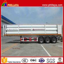 Tri-Axle 9 Tubes 19.89m3 CNG Tube Skid Trailer