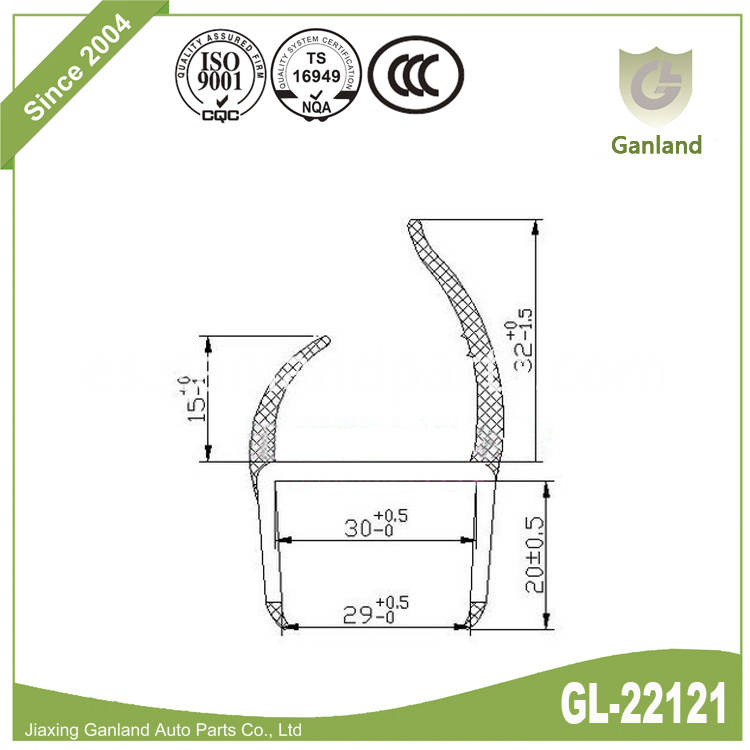 Truck Sealing Strip gl-22121