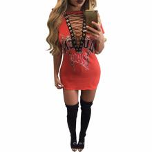 Vente en gros dernières créations Bodycon crayon col V voir à travers la robe des femmes africaines Vêtements Bazin