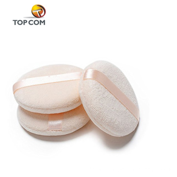 round cosmetic sponge applicator with bag cotton powder puff