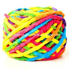 Tejido a mano Crochet Bulky Tejer Bufanda de acrílico Manta Fancy Yarn