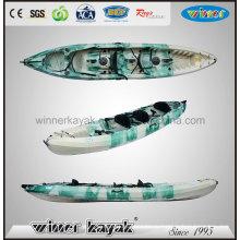 Сядьте на верхнюю пластиковую рыбную ловлю 3 человека Kayak Wholsale
