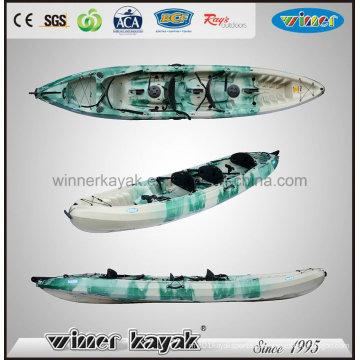 Sitzen auf der Oberseite Plastikfischen 3 Person Kajak Wholsale
