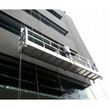 high rise hanging scaffolding rope suspended platform