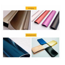 Material de construcción 6063 6061 Alloy Extruded Color Power Coating Perfil de aluminio