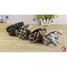 Hongmioo New Style Tartan Summer PU Belts for Ladies Fancy Belts