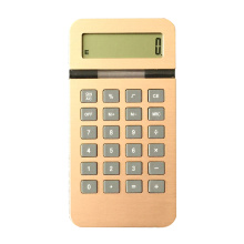 Dual Power 10 Digits Gold Color Alum Calculator
