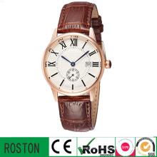 Herren Leder Uhr mit Quratz Waterproof