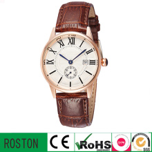 Men Leather Watch with Quratz Waterproof