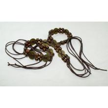 Мода Ручная работа воском шнур плетеные ремни-KL0058