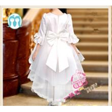 2016 dernière conception queue robe robe de soirée de mariage manches longues robe pour enfants filles usure