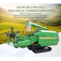 grain wheat rice combine harvester crawler type