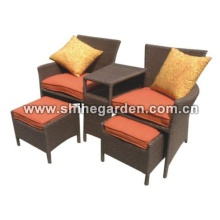 Outdoor Patio Wicker Furniture-Comfortable Dining Set