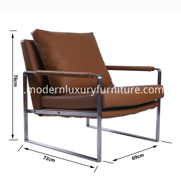 Modern Stainless Steel lounge chair size