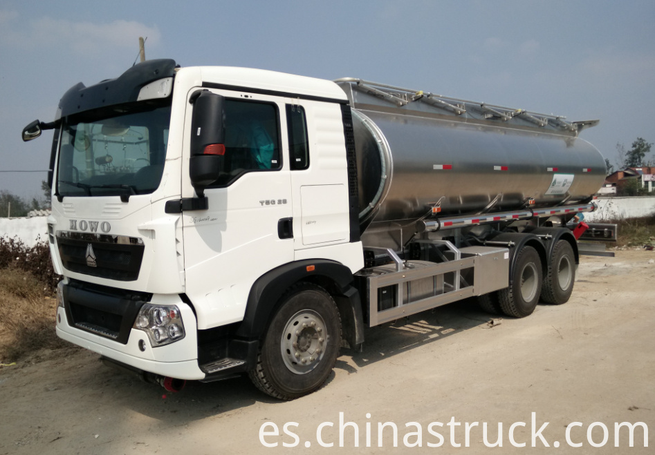 HOWO 25000 liters Aluminum Ethylalcohol tank truck