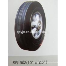 """rueda de goma sólida 10 """"X2.5"""""""