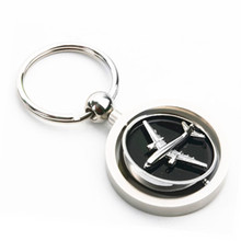 Souvenir Gift 3D Zinc Alloy Spinning Airplane Key Chain (F1256A)