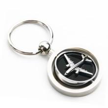 Сувенир Подарочный 3D Zinc Alloy Spinning Airplane Key Chain (F1256A)
