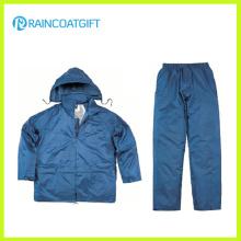 Rainsuit impermeable del PVC del poliéster Rpy-059