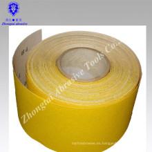 Rollo de papel de lija blanco de corindón amarillo de alta calidad para decorar, lima de uñas, fallas en los pies, pintura
