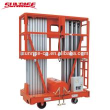 Plate-forme de travail de levage aérien mobile en aluminium électrique
