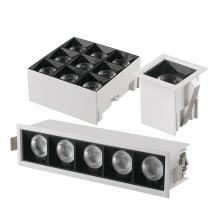 Luz lineal LED montada en superficie de aluminio