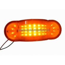 Янтарный 100% водонепроницаемый светодиодный фонарь для грузовых автомобилей