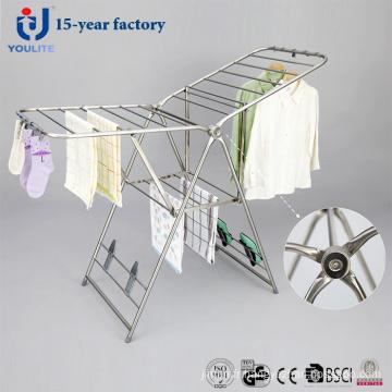 Support de séchage de vêtements pliable en acier inoxydable de luxe