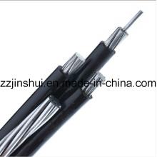 0.6 / 1 Kv LV Antenne gebündeltes Kabel 3 Kernphase 16mm2 AAC 16mm2 Bare AAAC Messenger