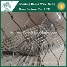 hand woven knotted stainless steel wire rope mesh