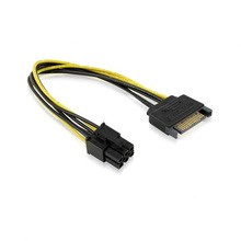 SATA 15-Pin auf 6-Pin PCI-E-Kabel Express-Kartenstromkabel