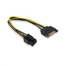 Интерфейс SATA 15-контактный к 6-Контактный PCI-E кабель Экспресс карта Кабель питания