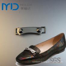 Moda Zinco Alloy Chain Buckles com Tubular a Rebites e Studs para Sapatos