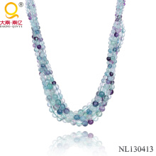 2014 Natural Stone Fluorite Necklace