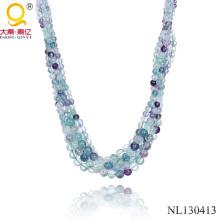 Естественный камень флюорита ожерелье 2014