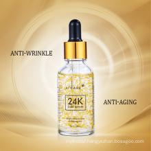 OEM ODM Facial Collagen Moisturizing Lift Firming Anti-Aging Anti-Wrinkles Whitening Face Skin Care 24K Gold Serum