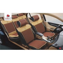 Car Seat Cover Flat Four Season PU Leather Beige Brown