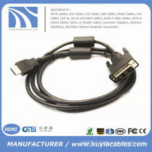 Câble HDMI vers DVI Pour HD 1080P PC LCD Câble d'ordinateur