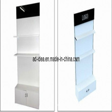 Single-Side with Panels and Logo, Clothing Display Stand (AD-130704)