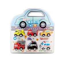 Plástico mini coche 6pcs coche juega retirar coche (h0415333)