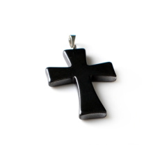 Cross Hematite Clasp Pendant Magnetic Necklace