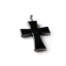 Крест гематит ожерелье Магнитная застежка