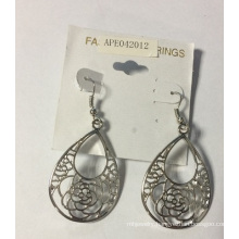 New Style Lady Lace Earring with Metal